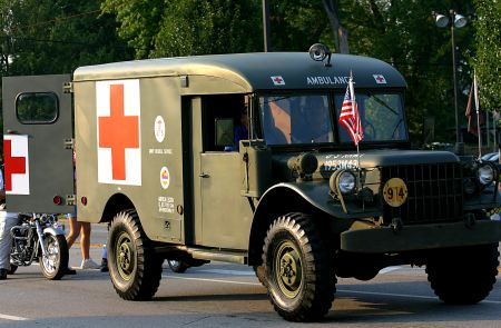 God comforts us in times of loss and binds up our wounds Photo of red cross ambulance