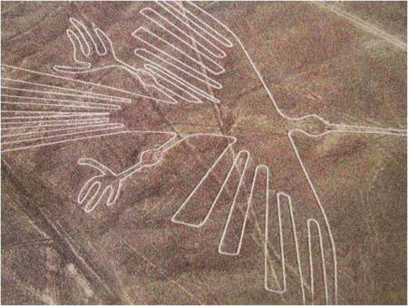 Sands of time poem Image of bird from Nazca lines