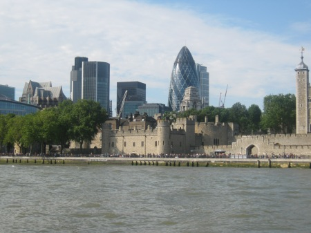 Tower of London and the Gherkin Photo by  Michelle Sherlock