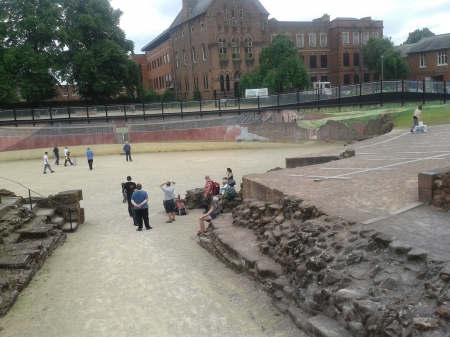 Roman Amphitheatre Chester close up