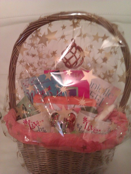 Make up and toiletries hamper after wrapping
