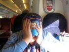My son, then 14 hiding his face from the camera true teenage boy style! London 2012