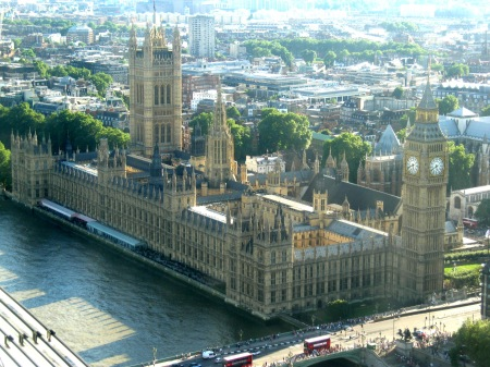 Houses of Parliament from the Millenium Wheel , London 2012 © Michelle Sherlock