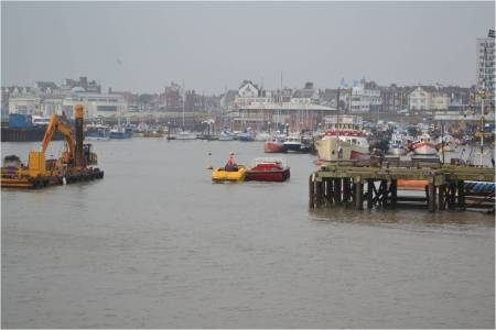 Bridlington Harbour full of boats