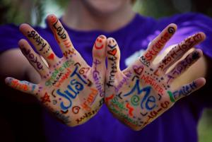Trust photo of hands with writing on inviting acceptance