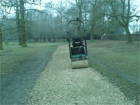 Picture of a roller used to smooth paths