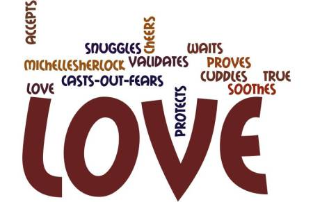 love does poem wordle by Michelle Sherlock
