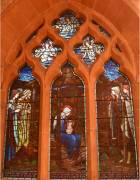 Mary and Jesus, stained glass window, St Stephen's church, Tonbridge, Kent